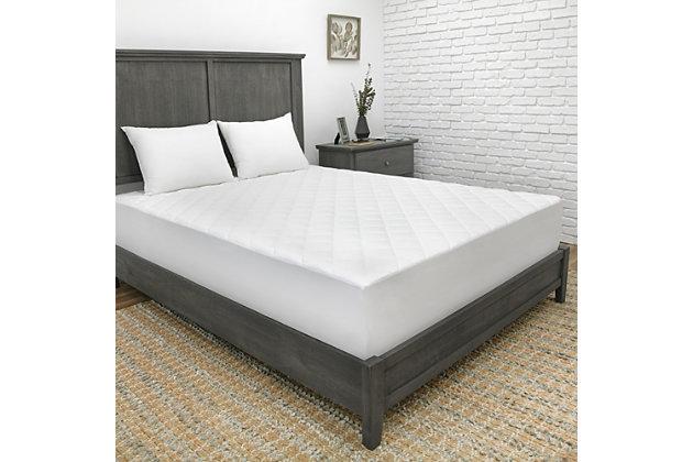 SensorPEDIC® 300 Thread Count CoolMAX® Twin Mattress Pad, White, large