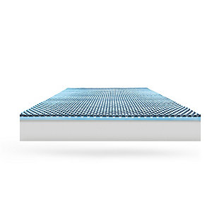 SensorPEDIC® Charcoal 2.5-Inch Hybrid Sensorwell Memory Foam Twin Mattress Topper, Gray/Blue, large