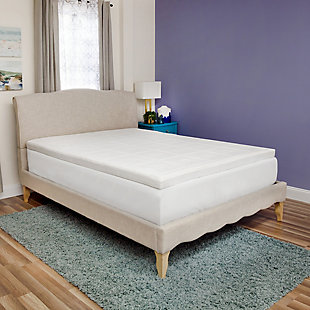 SensorPEDIC® Luxury Extraordinaire 3-Inch Memory Foam Twin Mattress Topper, White, rollover