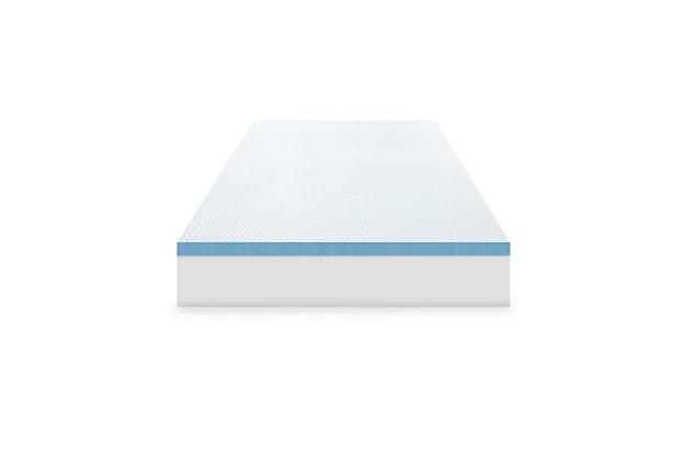 SensorPEDIC® 3-Inch Elite Cooling Gel-Infused Memory Foam Twin Mattress Topper, White, large
