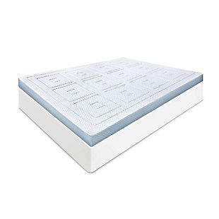 SensorPEDIC® SensorCOOL 3-Inch Gel-Infused Memory Foam Twin Mattress Topper, White, large