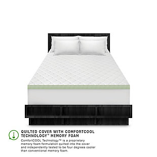 SensorPEDIC® 3-Inch Ultimate Cooling Luxury Quilted Memory Foam Full Bed Topper, White, large