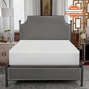 SensorPEDIC® 1.5-Inch Coolest Comfort Memory Foam Twin Bed Topper, White, rollover