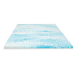 SensorPEDIC® 2-Inch Gel Swirl Memory Foam Twin Mattress Topper, Blue/White, large