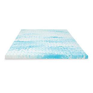 SensorPEDIC® 3-Inch Gel Swirl Memory Foam Twin Mattress Topper, Blue/White, large