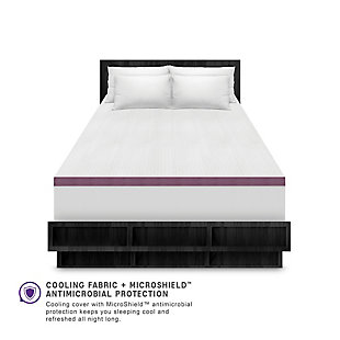 SensorPEDIC® 2-Inch Advanced Cool Transcend Memory Foam Twin Bed Topper, White, large