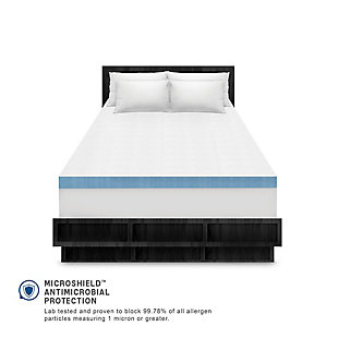 SensorPEDIC® 4-Inch Supreme Gel Cooling Transcend Memory Foam Queen Bed Topper, White, large