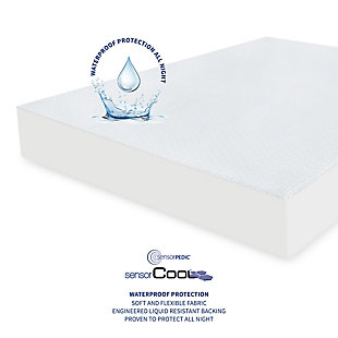 SensorPEDIC® SensorCOOL Elite Ultra Cooling Waterproof Twin Mattress Protector, White, large