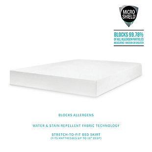SensorPEDIC® MicroShield Antiallergen Waterproof Twin Mattress Protector, White, large