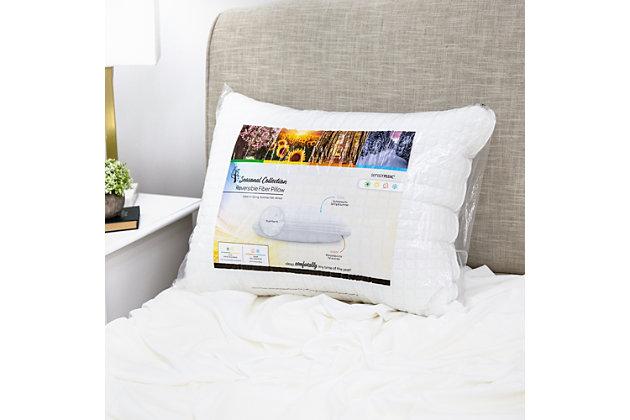 SensorPEDIC® All Seasons Reversible Fiber Bed Pillow 2 Pack, , large
