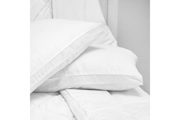 SensorPEDIC® Low Profile Hypoallergenic Flat Jumbo Bed Pillow 2 Pack, , large