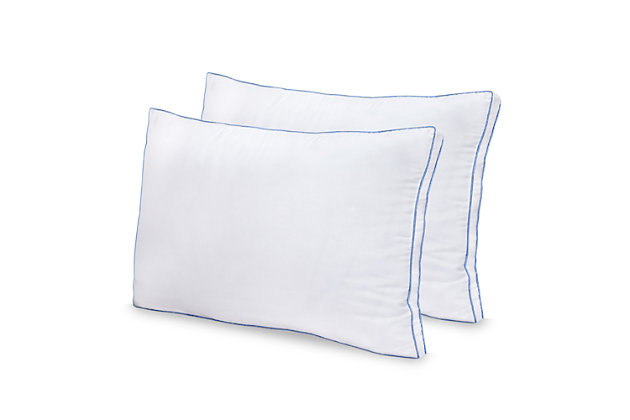SensorPEDIC® MemoryLOFT Deluxe Gusseted Bed Pillow with Memory Foam Center 2 Pack, , large