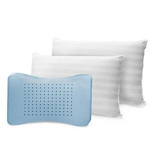 SensorPEDIC® MemoryLOFT Classic Cotton Standard Bed Pillow 2 Pack, White, large