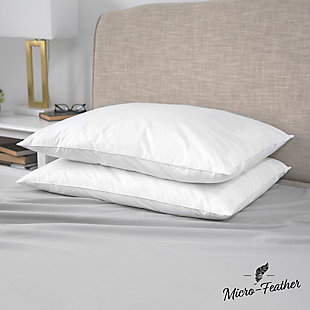 SensorPEDIC® Quilless Micro-Feather Plush Pillows 2 Pack, , rollover