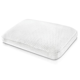 SensorPEDIC® Luxury Extraordinaire Gusseted Gel-Infused Memory Foam Oversized Bed Pillow, White, large