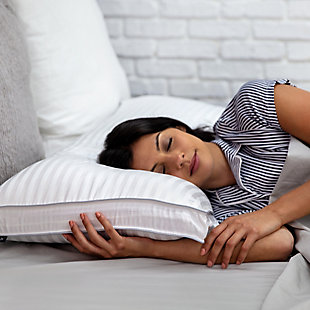 SensorPEDIC® Dual Comfort 500 Thread Count Jumbo Bed Pillow, White, large