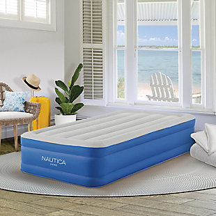 Nautica Home Plushaire™ Pillowtop Twin Air Bed, Blue, rollover