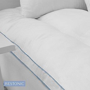 Restonic® 3-Inch Memory Fiber and Memory Foam Hybrid Twin Mattress Topper, White, large