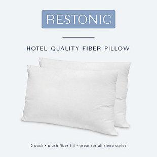 Restonic® Hotel Quality Down Alternative Gel Fiber Bed Pillow 2 Pack, , large