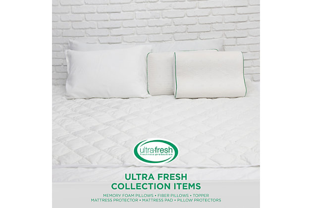 BioPEDIC® Fresh and Clean Twin Mattress Protector with Antimicrobial Ultra-Fresh Treated Fabric, White, large