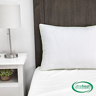 BioPEDIC® Ultra-Fresh Luxury Standard Gusseted Antimicrobial Pillow Pair with Nanotex Coolest Comfort Technology, White, rollover