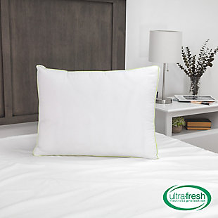 BioPEDIC® Ultra-Fresh Luxury Standard Gusseted Antimicrobial Pillow Pair with Nanotex Coolest Comfort Technology, White, large