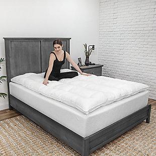 BioPEDIC® Eco Classic 3-Inch Down Alternative Twin Fiber Bed, White, rollover