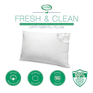 BioPEDIC® Ultra-Fresh Antimicrobial Standard Bed Pillow with Cotton Cover 2 Pack, , large