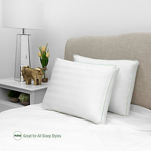 BioPEDIC® Ultra-Fresh 300 Thread Count Plush Fiber Gusseted Bed Pillow 2 Pack, , rollover