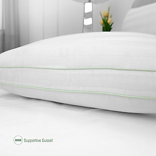 BioPEDIC® Ultra-Fresh 300 Thread Count Plush Fiber Gusseted Bed Pillow 2 Pack, , large