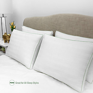 BioPEDIC® Ultra-Fresh 300 Thread Count Plush Fiber Gusseted Bed Pillow 4 Pack, , rollover