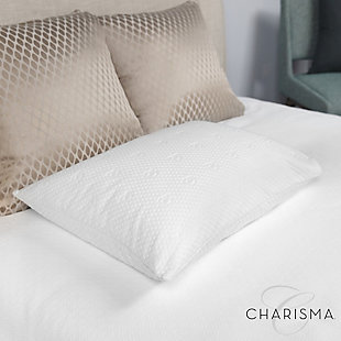 Charisma® Luxury Protection Water Repellent and Stain Resistant Standard/Queen Pillow Protector, White, rollover