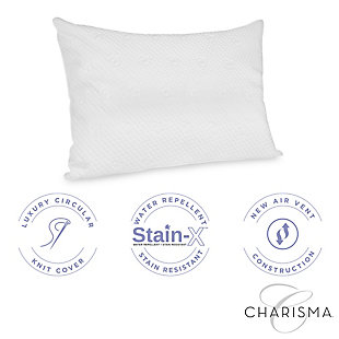 Charisma® Luxury Protection Water Repellent and Stain Resistant Standard/Queen Pillow Protector, White, large