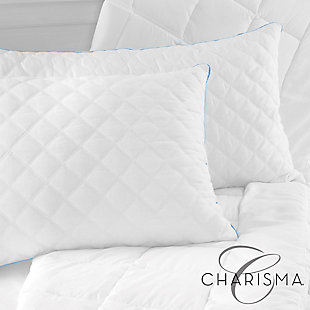 Charisma® Gel-2 Hybrid Bed Pillow with Gel-Infused Memory Foam Clusters and Cooling Gel Beads, , rollover