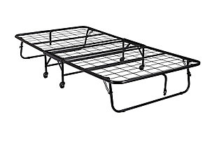 DHP Levy Twin Folding Guest Bed with Metal Frame and 5 Inch Mattress, , large