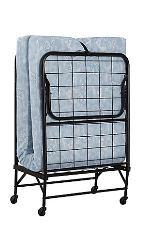 DHP Levy Twin Folding Guest Bed with Metal Frame and 4 Inch Mattress, , large