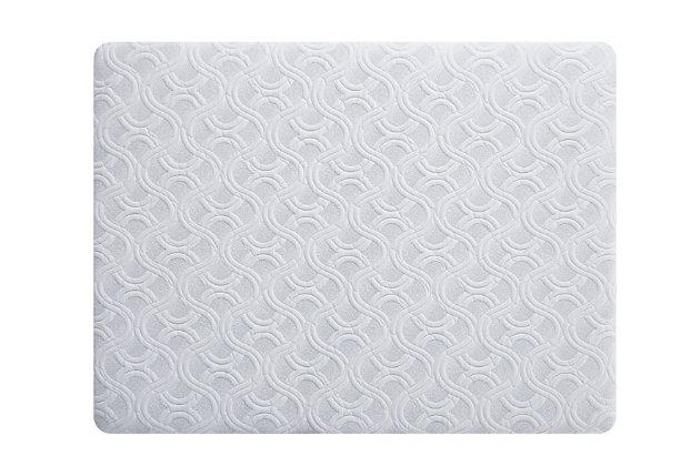 "Scott Living by Restonic Graham 10"" Firm Memory Foam Queen Mattress, White, large"