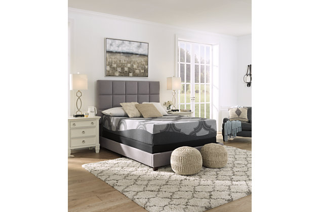 12 Inch Ashley Hybrid Queen Mattress, Gray, large