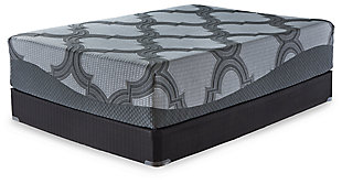 14 Inch Ashley Hybrid California King Mattress, Gray, large