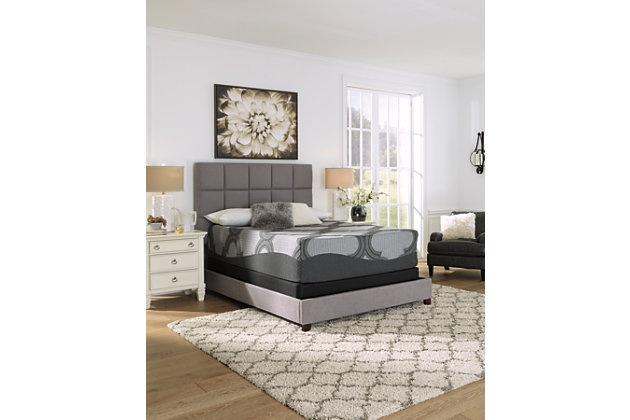 14 Inch Ashley Hybrid Queen Mattress, Gray, large