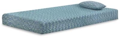 iKidz Blue Twin Mattress and Pillow, Blue, large