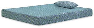 iKidz Blue Full Mattress and Pillow, Blue, large