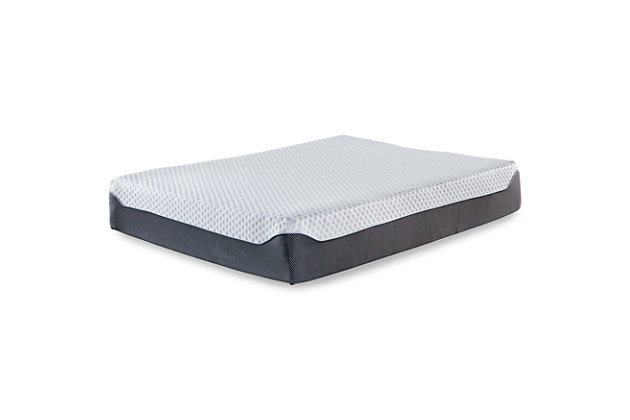 12 Inch Chime Elite Twin Memory Foam Mattress in a box, White/Blue, large