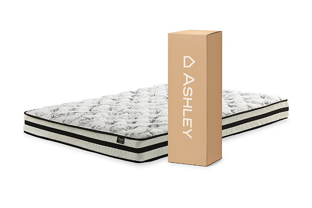 8 Inch Chime Innerspring Queen Mattress in a Box, White, large