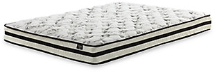 "Bombai Twin Metal Bed with 8"" Innerspring Mattress, White, rollover"