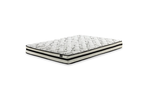 "8"" Queen Innerspring Mattress with Power Base, White, large"