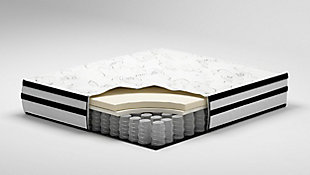 Chime 10 Inch Hybrid Full Mattress in a Box, White, large