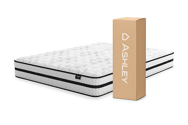 Chime 10 Inch Hybrid Twin Mattress, White, large