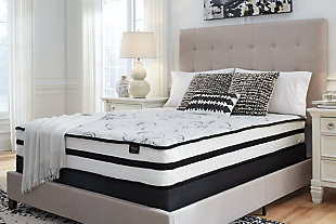Chime 10 Inch Hybrid Full Mattress in a Box, White, rollover