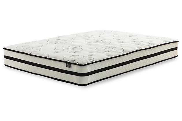 "10"" Queen Hybrid Mattress with Power Base, White, large"